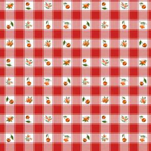Voksdug - Cherries and Pansies Rød
