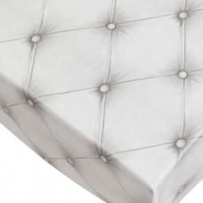Chesterfield voksdug med Chesterfield look hvid, 140 cm bred