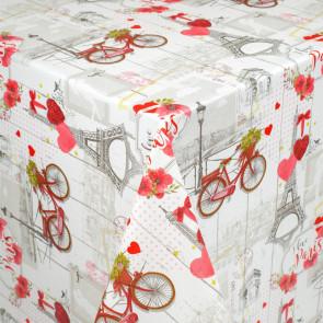 J'aime ma bicyclette - Rund voksdug med elastik
