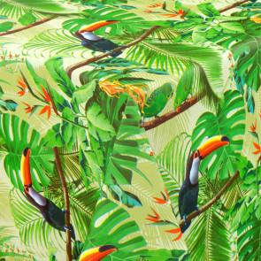 Junglens Tucan Fugle - Rund voksdug med elastik