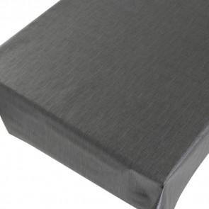 Linen Look Dark Grey - ensfarvet voksdug i hørlook med præget overflade