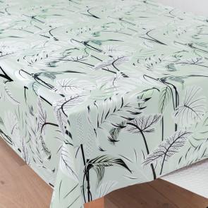 Mangrove Mintgrøn, voksdug med flotte og kunstfærdigt udformede blade