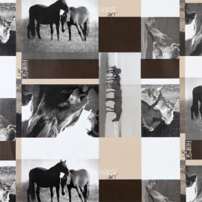 Frie Heste - voksdug med flotte fotomontager af heste