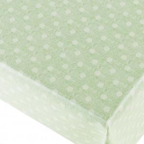 New Dot Green - voksdug med prikker og flot præget hørlook