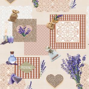Provence Rustique - Voksdug med lavendel motiver