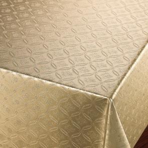 Rose Tapestry Gylden - Voksdug med damask præget mønster