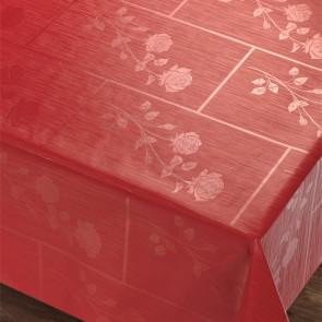Rosenbue Rød Rektangulær - med smukke damaskmønstre af roser