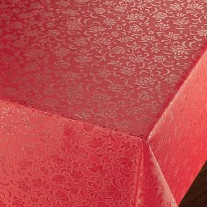 Rosenflor Rød - Flot damask præget voksdug