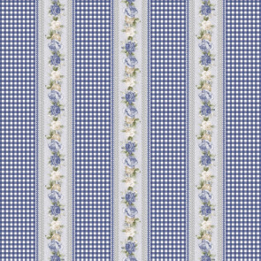 Voksdug - Roser og Karolinetern Blå
