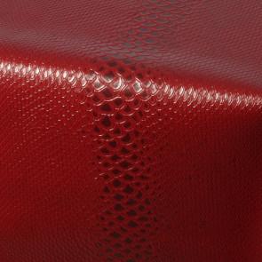 Python Red, voksdug slange skindlook i rød