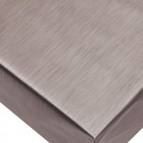Metallic Tin - ensfarvet voksdug i metal look