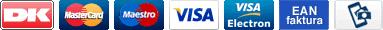 Her kan du betale med diverse kreditkort